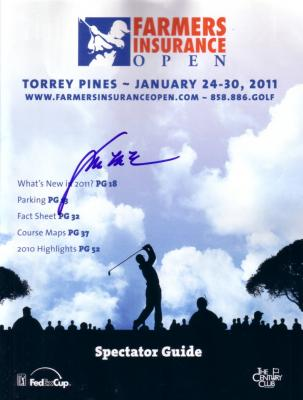 Y.E. Yang autographed 2011 Farmers Insurance Open program