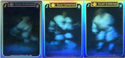 Wayne Gretzky 1990-91 Upper Deck hologram card set (3)