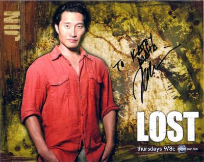 Daniel Dae Kim autographed LOST 8x10 photo (to Kathy)