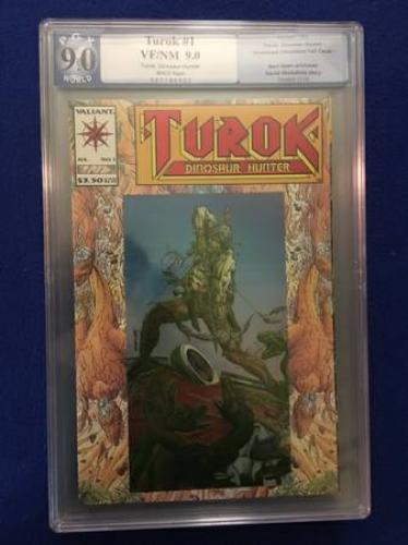 Turok #1 by Valiant Comics. PGX graded 9.0