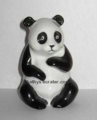 Ceramic Black and White Panda Bear Animal Figurine