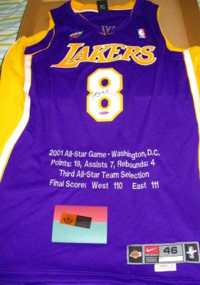 Kobe Bryant autographed Los Angeles Lakers 2001 All-Star UDA jersey #6/108