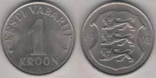 Coins; Estonia 1 Krooni; Year:_1993