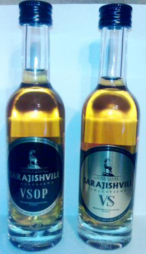 Miniature bottle - Sarajishvili Brandy