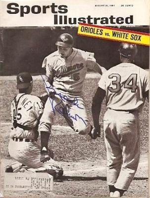 Brooks Robinson autographed Baltimore Orioles 1964 Sports Illustrated