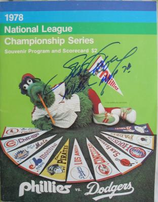 Steve Garvey autographed Los Angeles Dodgers 1978 NLCS program
