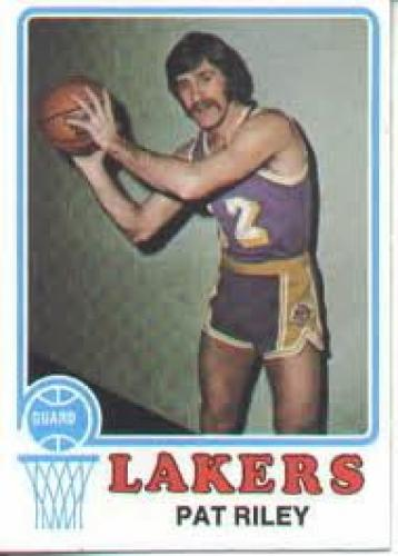Basketball Card; 1973-74 Topps; PAT RILEY #12 Forward; Lakers