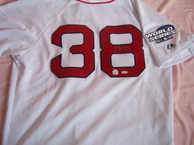 Curt Schilling autographed Red Sox 2004 World Series jersey (Steiner)