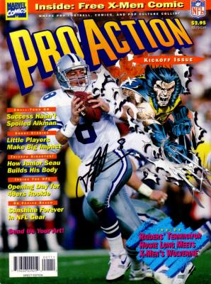 Troy Aikman autographed Dallas Cowboys NFL Pro Action magazine