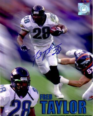 Fred Taylor autographed Jacksonville Jaguars 8x10 photo
