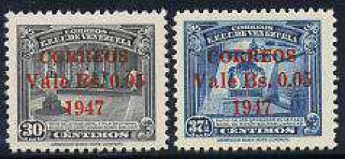 Overprints 2v; Year: 1947