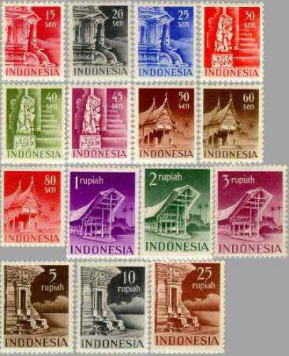 Definitives, architecture 15v; Year: 1949