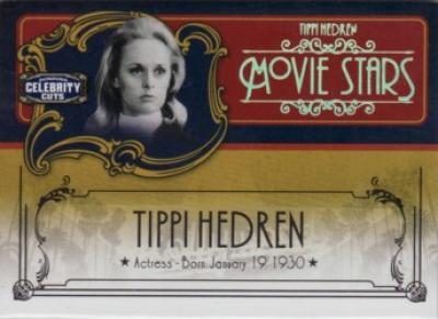 Tippi Hedren Donruss Americana Celebrity Cuts Century Gold insert card #25/25