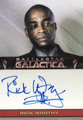 Rick Worthy Battlestar Galactica certified autograph card