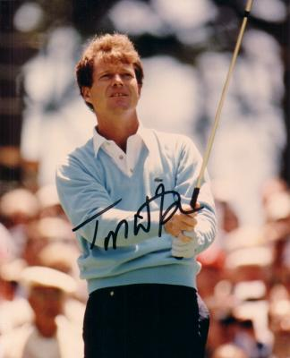 Tom Watson autographed 8x10 golf photo