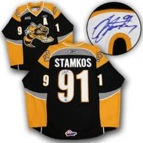 Memorabilia; Sting Autographed Jersey - STEVEN STAMKOS Sarnia OHL