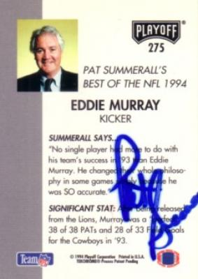 Pat Summerall autographed 1994 Playoff card