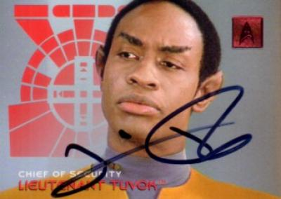 Tim Russ autographed Star Trek Voyager Tuvok card