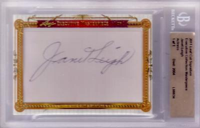 Janet Leigh certified autograph 2011 Leaf Masterpiece Cut Signature card #1/1