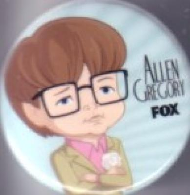 Allen Gregory 2011 Comic-Con promo button or pin