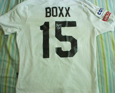 Shannon Boxx autographed 2001 WUSA San Diego Spirit game worn soccer jersey