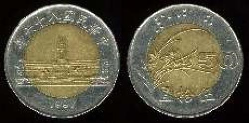 50 yuan; Year: 1996-1997; (km y#556); Parliament Building