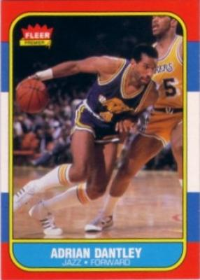 Adrian Dantley Utah Jazz 1986-87 Fleer basketball card
