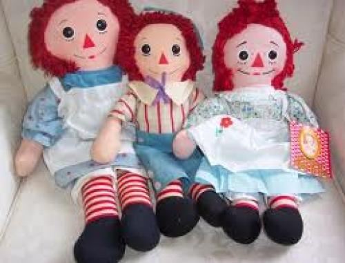 Dolls; Early 1970&#039;s Knickerbocker Raggedy Ann Dolls
