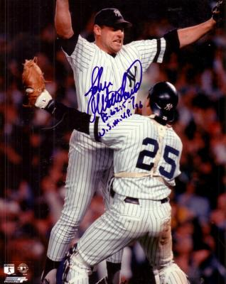 John Wetteland autographed New York Yankees 1996 World Series 8x10 photo inscribed WS MVP