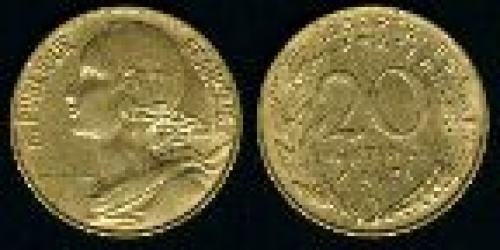 20 centimes; Year: 1962-2001; (km 930)