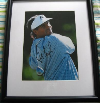 Fred Couples autographed golf magazine photo matted & framed (FULL NAME SIGNATURE)