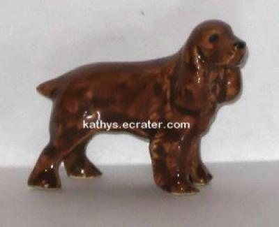 Ceramic Glazed Red Cocker Spaniel Dog Animal Figurine