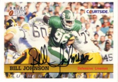 Bill Johnson Michigan State certified autograph 1992 Courtside card