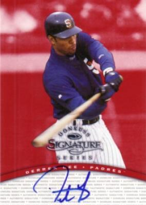 Derrek Lee certified autograph 1997 Donruss Signature Series card