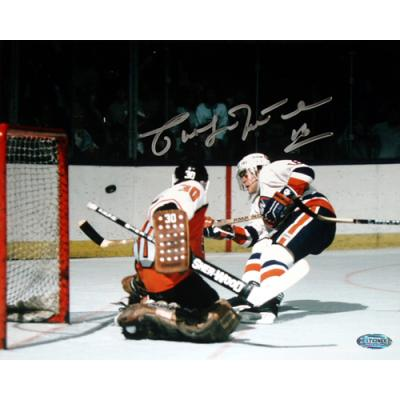 Pat LaFontaine autographed New York Rangers 16x20 poster size photo (Steiner)
