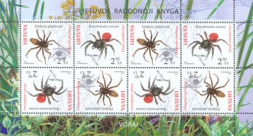 The Red Book of Lithuania - Spiders.