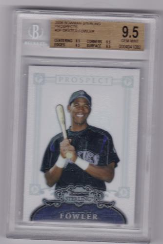 2006 BOWMAN STERLING ROOKIE CARD GRADED BGS 9.5 DEXTER FOWLER