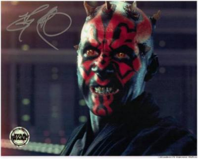 Ray Park autographed Star Wars Darth Maul 8x10 portrait photo