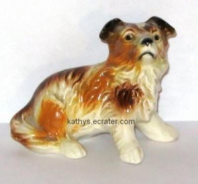 Goebel West Germany 80107 Sitting Collie Dog Animal Figurine