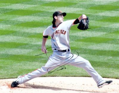 Tim Lincecum autographed San Francisco Giants 8x10 photo