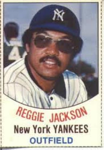 Baseball card; Reggie Jackson; 1977 HOSTESS BASEBALL CARDS