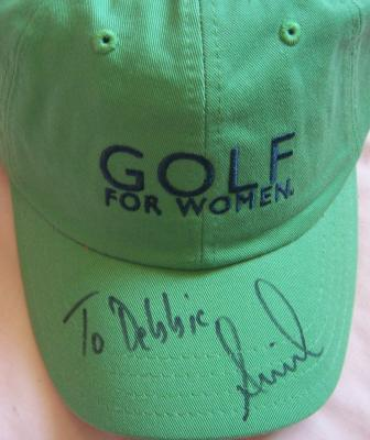 Annika Sorenstam autographed Golf for Women cap or hat (to Debbie)