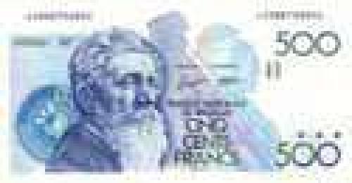 500 Cinq Cent Francs; Older banknotes