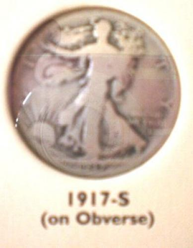 1917S Walking Liberty Silver Half Dollar
