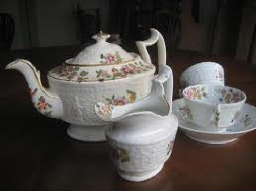Staffordshire porcelain tea service