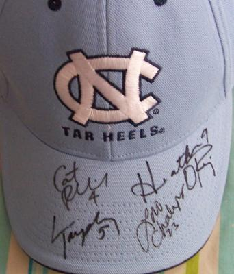 Heather O'Reilly Lori Chalupny Cat Reddick Lindsay Tarpley autographed UNC cap
