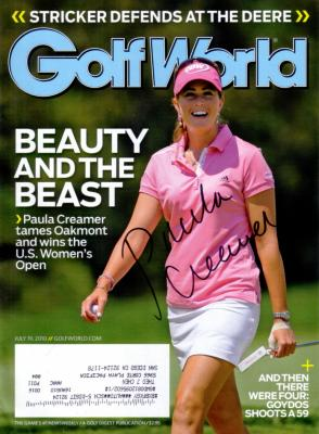 Paula Creamer autographed 2010 U.S. Women&#039;s Open Golf World magazine
