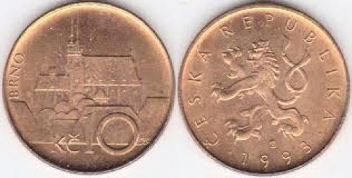Coins; 1993 Czech Republic 10 Korun