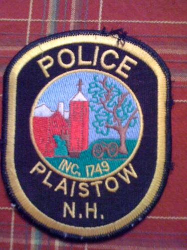 Old Plaistow New Hampshire Police patch, NH
