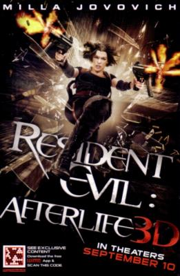 Resident Evil Afterlife 3D 2010 Comic-Con 4x6 promo card